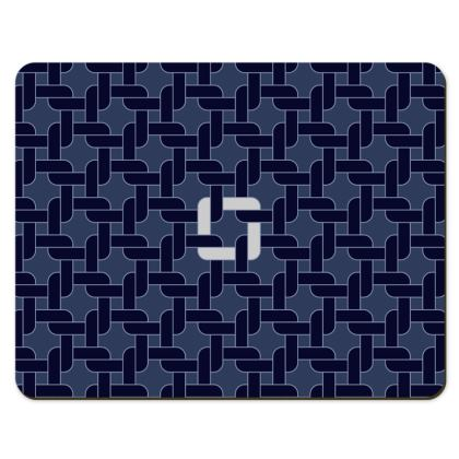 Linked Navy Pair of Placemats