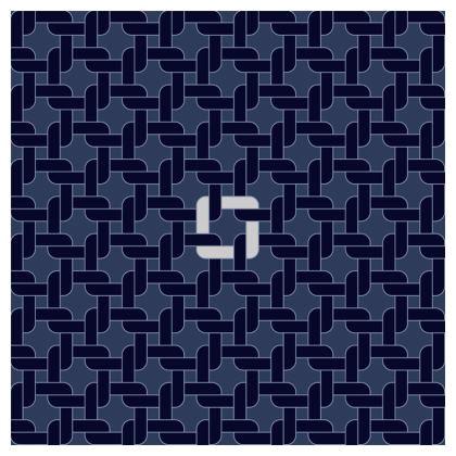 Linked Navy Coasters