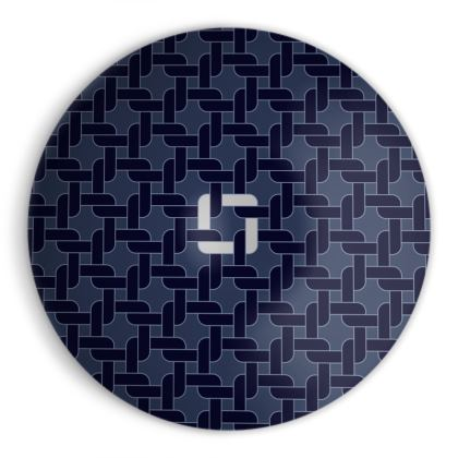 Linked Navy Ornamental Bowl