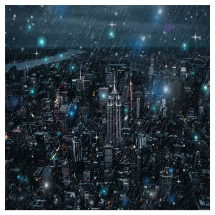new york Leather Clutch Bag