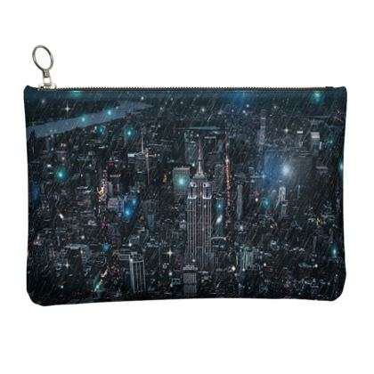 new york Leather Clutch Bag