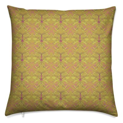 Butterfly Collection (Green Gold) - Luxury Cushion