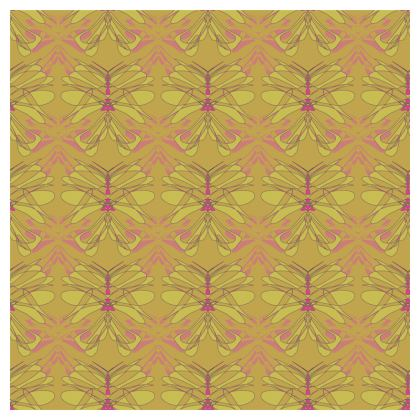 Butterfly Collection (Green Gold) - Tablecloth