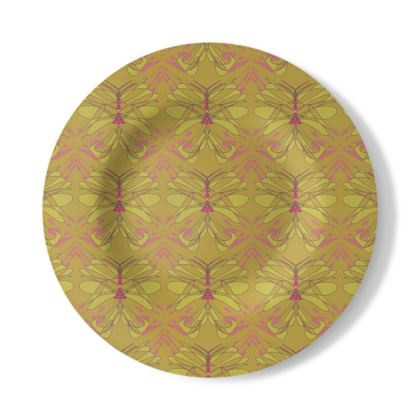 Butterfly Collection (Green Gold) - Luxury Decorative Plate