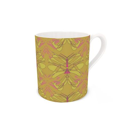 Butterfly Collection (Green Gold) - Luxury Bone China Mug