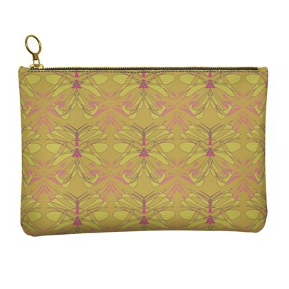 Butterfly Collection (Green Gold) - Luxury Leather Clutch