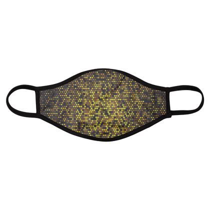 gold and black i face masks,pack of four