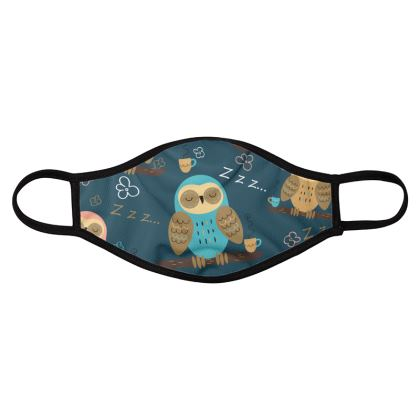 owls birds and animals four pack face masks