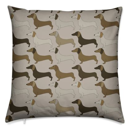 Dachshund Collection (Latte) - Luxury Cushion