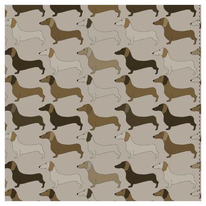 Dachshund Collection (Latte) - Luxury Wallpaper