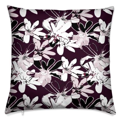 Magnolia Collection (Plum) - Luxury Cushion