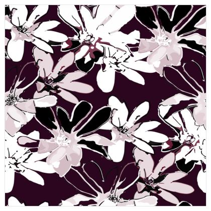 Magnolia Collection (Plum) - Luxury Wallpaper