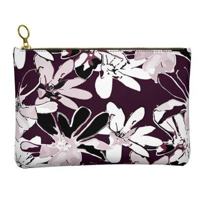 Magnolia Collection (Plum) - Leather Clutch Bag