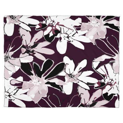 Magnolia Collection (Plum) - Scarf, Wrap or Shawl