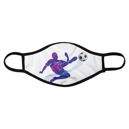 football lover face masks pack of four