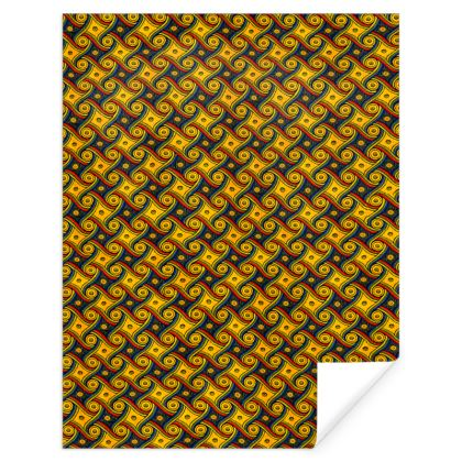 LAX Gally Retro Carpet Pattern Wrapping Paper