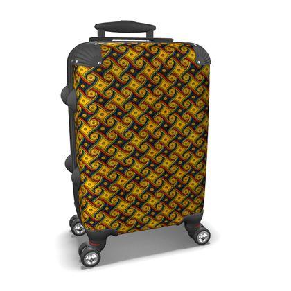 The LAX Gally Carpet Print Hard Suitcase
