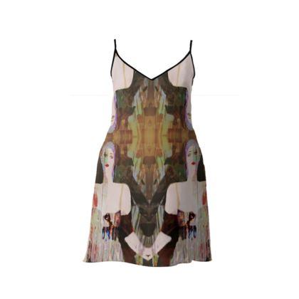 BORDELLO SHORT SLIP DRESS
