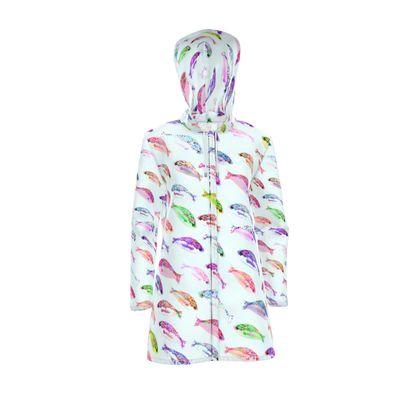 Tropical Fish Collection Womens Hooded Rain Mac