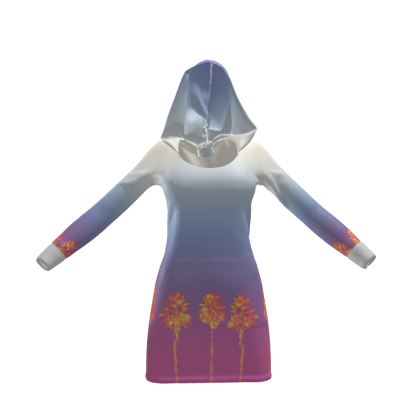 Palm Trees Collection Hoody Dress