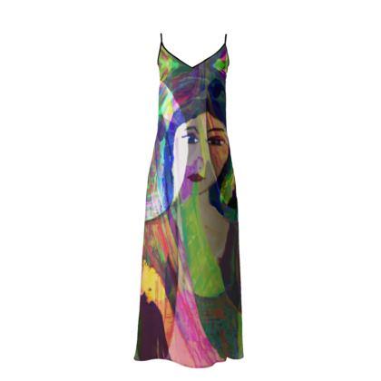 FIORELLA LONG SLIP DRESS