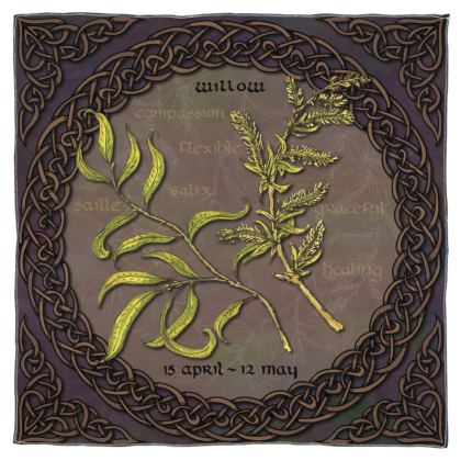 Tree Calendar Willow Scarf, Wrap or Shawl