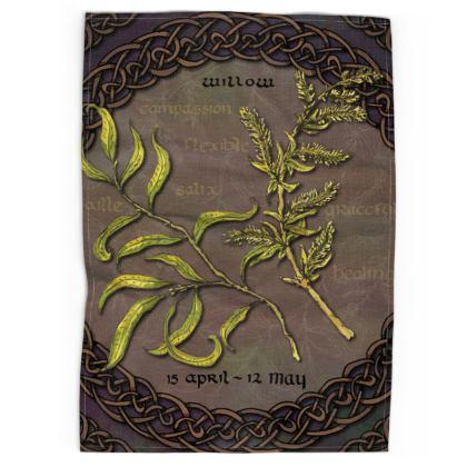 Tree Calendar Willow Tea Towel