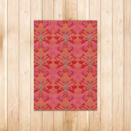 Butterfly Collection (Red Berry) - Luxury Rug