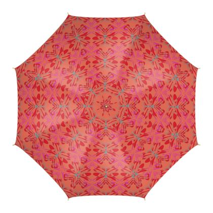 Butterfly Collection (Red Berry) - Luxury Umbrella