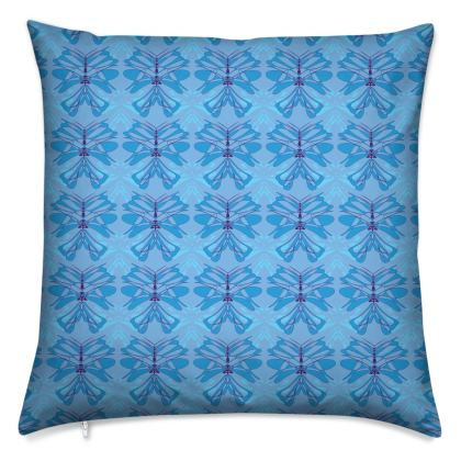 Butterfly Collection (Sky Blue) - Luxury Cushion