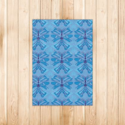 Butterfly Collection (Sky Blue) - Luxury Rug