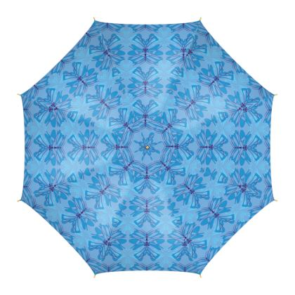 Butterfly Collection (Sky Blue) - Luxury Umbrella