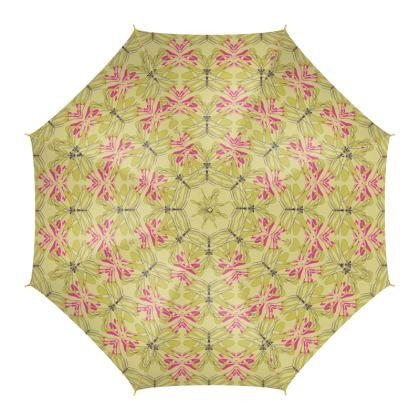 Butterfly Collection (Green Gold) - Luxury Umbrella