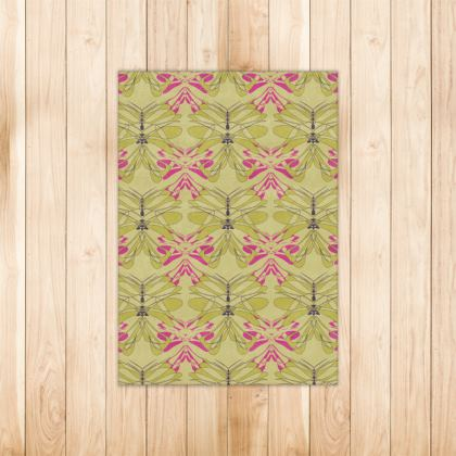 Butterfly Collection (Green Gold) - Luxury Rug