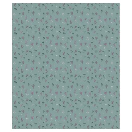 Light Blue Floral Branches Curtains
