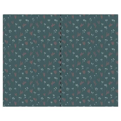 Teal Floral Branches #2 Wallpaper