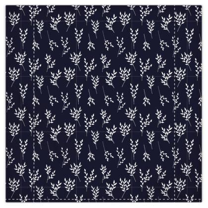 Navy/White Branches Duvet
