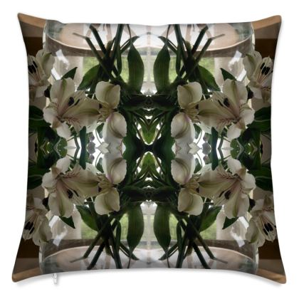 Alstroemeria bowl Reflection Cushion