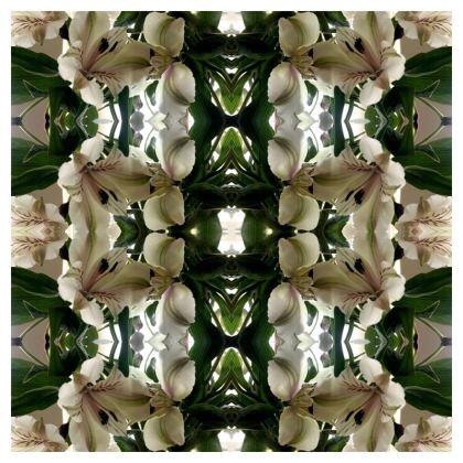 Alstroemeria bouquet reflection Cushion