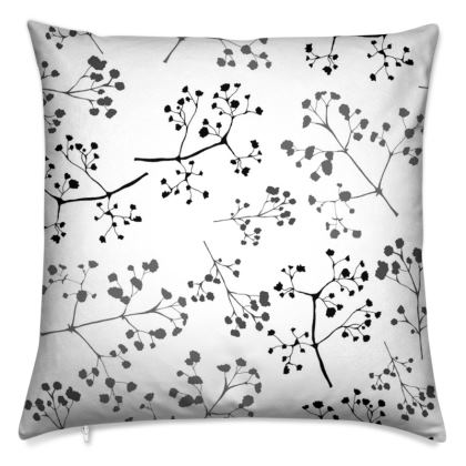Gypsophila monochrome cushion