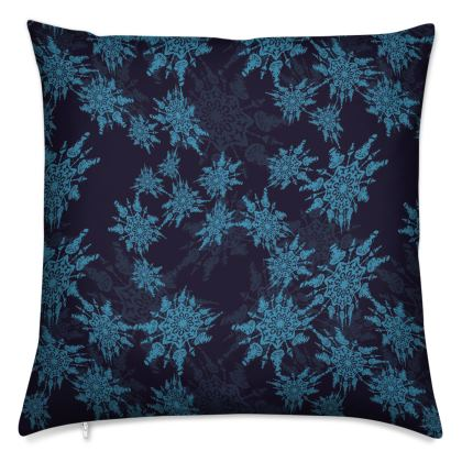 Snow Flake Collection (Blue) - Luxury Cushion
