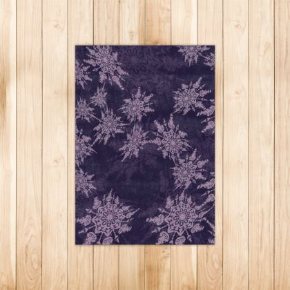 Snow Flake Collection (Violet) - Luxury Rug