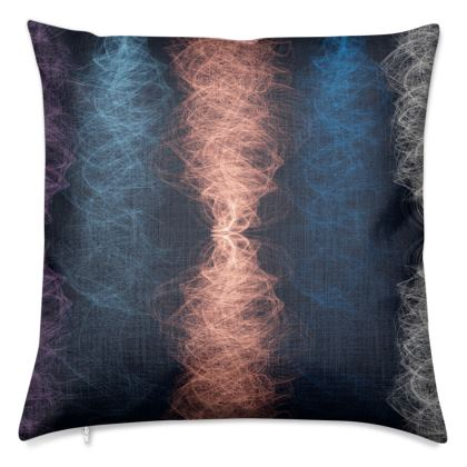 Light Threads (Coral) - Luxury Cushion