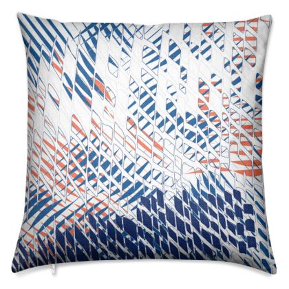 Threads Collection (Blue) - Luxury Cushion