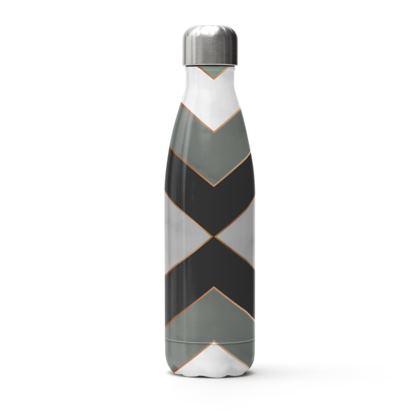 gray minimal stainless steel bottle