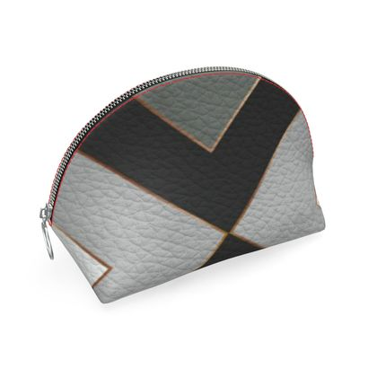 gray geometrical shell coin purse