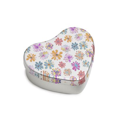 Rainbow Daisies Collection Sweet Heart Tin