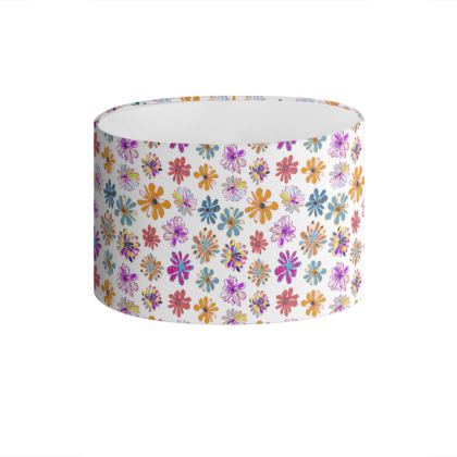 Rainbow Daisies Collection Drum Lamp Shade