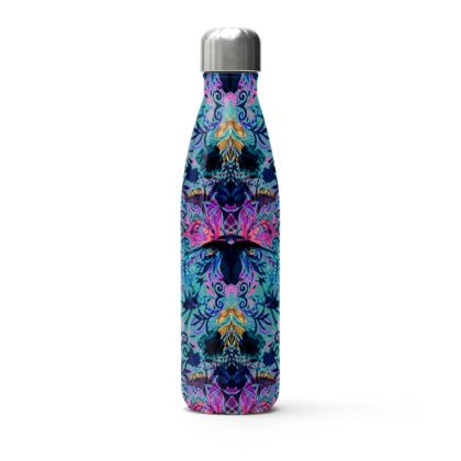 Stainless Steel Thermal Bottle Blue Print