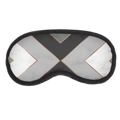 gray geometrical eye mask